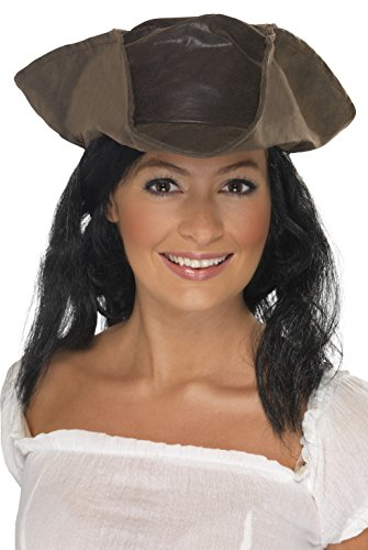 Suede Pirate Hat (Suede Pirate Adult Hat & Hair)