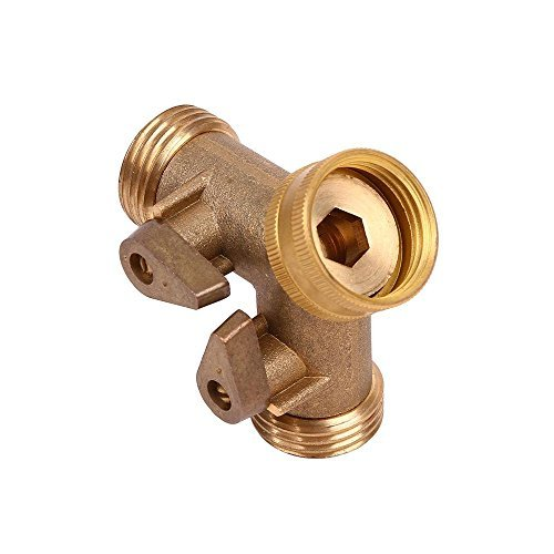 Ohuhu Brass Y Valve Garden Hose Connector / Hose Splitter / Split Faucet