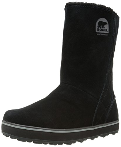 Sorel Women's Glacy Snow Boot, Black, 10.5 M US