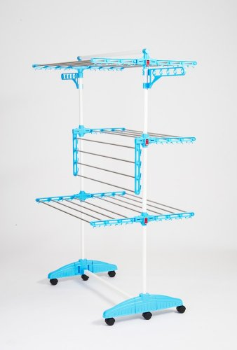 Wäscheturm hanuri one touch otwhali01 laundry stand with holder for small items