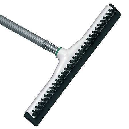 Unger Sanitary Brush/Acme Insert Floor Squeegee, 18