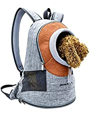 PETCUTE Dog Carrier Backpacks for Small Dogs Cats Adjustable Head Out Pet Carrier for Cycling Hiking