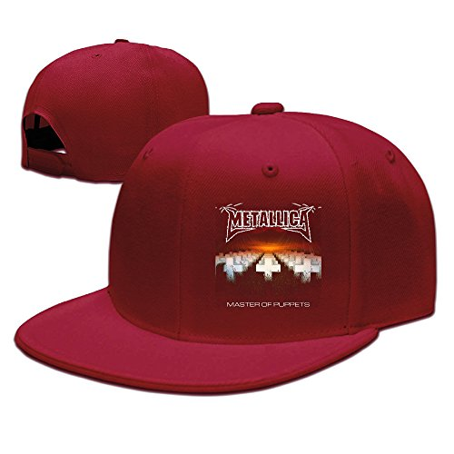 Metallica-Master Of Puppets Fitted Caps Unisex Adjustable Snapbacks Snapback Visor Red