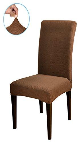 Subrtex knit stretch dining room chair slipcovers 6 for 6 dining room chair covers
