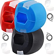 INNOPICS Jaw Exerciser 3 Pack, Unisex Chewing Facial Exerciser, Jawline toner, Jaw Face and Neck Exerciser, Ma