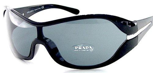 8e04dca85eff5 PRADA SUNGLASSES Soft Black Shades SPR 12G SPR12-G 1AB-1A1 Black Frame  Size  01-35-110  Amazon.co.uk  Clothing