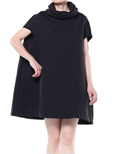 Mordenmiss Women's Turtleneck Sleeveless Vest Stripes Sweatshirt (L, Style - Mini Turtleneck Stripe