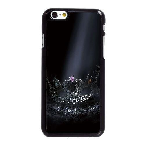 X3V15 âmes sombres couronne du roi contrebas D6I9XM coque iPhone 6 4.7 pouces cas de couverture de téléphone portable coque de XE8CWG8FP noir