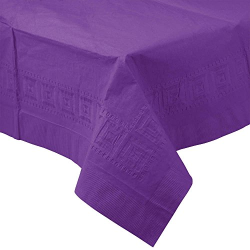 318936 54'' x 108'' Amethyst Purple Tissue / Poly Table Cover - 24/Case By TableTop King by TableTop King