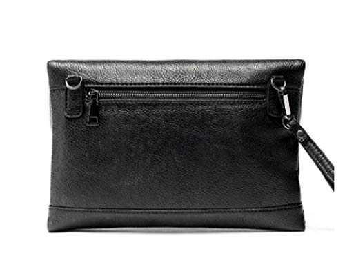 Fashionable Large Black Handbag Shoulder Bag Capacity Casual Style New Leather Multifunctional Clutch Zhrui 6wR5q