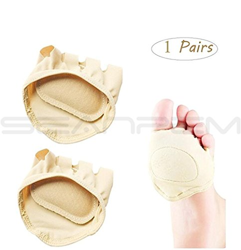 Plantar Forefoot Pads - - Absorb Sweat Protections High Heel Cushions Fingers Separation Socks Protections Finger Covers - No Slipping Metatarsus Protector Cushions - Relief of High Heel Bow and Heel Pain