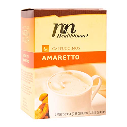 (HealthSmart - High Protein Diet Hot Drink - Amaretto - Instant Weight Loss Cappuccinos - 15g Protein - Low Sugar - Low Carb - Low Calorie)