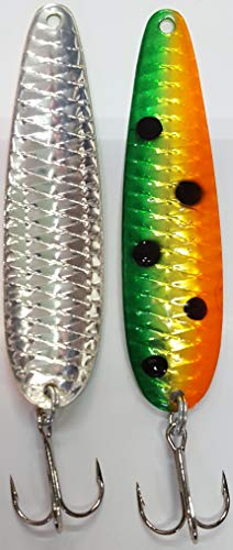 Big Lake Tackle SuperSpoon Diamondback Orange Melon Scale 4