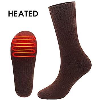 Svpro - Calcetines térmicos eléctricos recargables, con pilas, para deportes al aire libre,