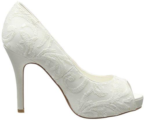 MENBUR Keila, Zapatos de Tacón mujer Blanco (Off White (04))