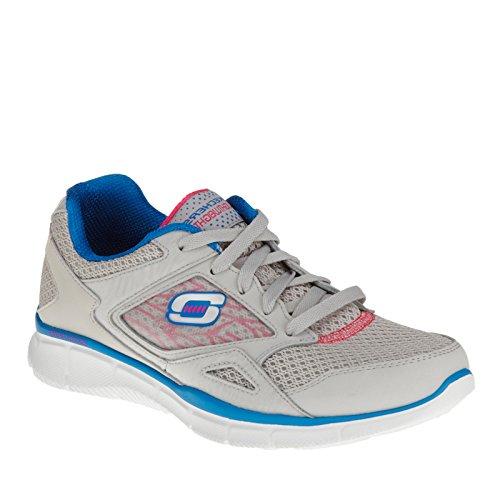 Skechers , Baskets pour femme Gris Charcoal/Light Blue Grey/Blue