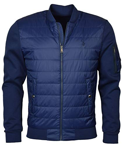 Polo Ralph Lauren Men's Double Knit Quilted Bomber Jacket - L - - Ralph Vest Polo Lauren
