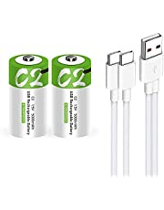 USB AAA Lithium ion Rechargeable Battery, High Capacity 1.5V 550mWh Rechargeable AAA Battery, 1 H Fast Charge, 1200 Cycle with Type C Port Cable, Constant Output,4-Pack