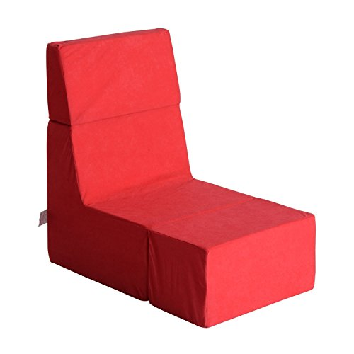 41fiz7 9UxL - HomCom-Folding-Lounger-Gaming-Chair-Cube-Red