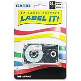 Casio 24mm White EZ Label Printer Tape
