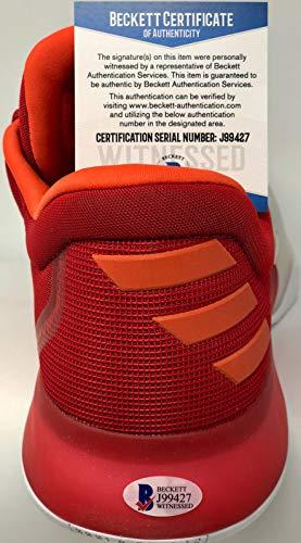 James Harden Autographed Signed Memorabilia Adidas Vol 1 Shoe Beckett Authentic Witness Nba Houston Rockets