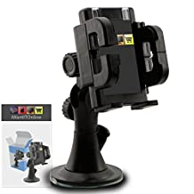 IWIO Leagoo Shark 1 Black Multi-Directional Dashboard / Windscreen, Case Compatible (Use with or without your existing case!) Clip On Suction Mount In Car Holder