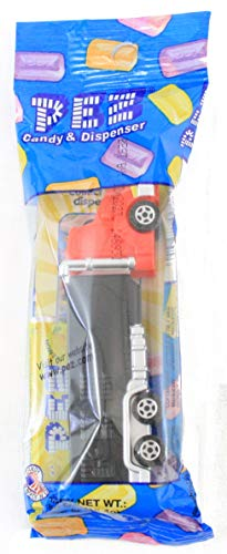 Pez Rigs Semi Truck Conventional red truck with black trailer Candy Dispensers ()