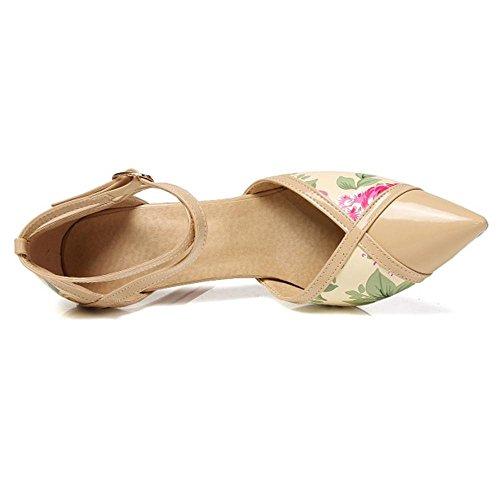 Coolcept Women Thin Heel Pumps Shoes apricot YPkM1OTLjG