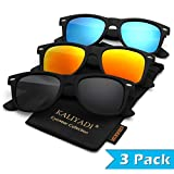Wayfarer Polarized Sunglasses for Men and Women | Matte Finish Sun glasses | Color Mirror Lens | 100% UV Blocking