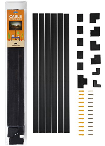 Black Cable Concealer Wall Raceway product image