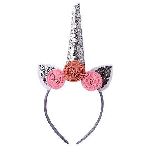 Silver Magical Unicorn Horn Party Kid Hair Headband Dress Cosplay Decorative ()