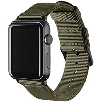 Archer Watch Straps | Premium Nylon Replacement Bands for Apple Watch (Choice of Color and Size)
