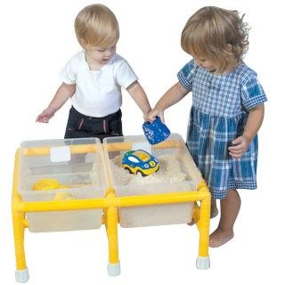 Amazon.com: Childrens Factory Sand And Water Table, Mini Double ...