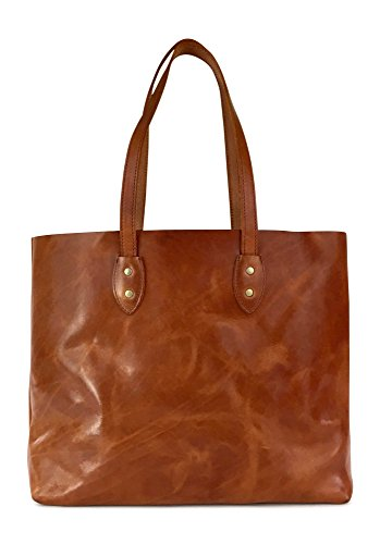 Vintage Leather Tote Bag by Jackson Wayne (Saddle Tan)