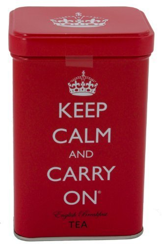 Keep Calm and Carry On Tea Tin, English Breakfast Tea (40 Bags, 125g, 4.4 oz) by Keep Calm And Carry On Beverage Co. (125g Tin)
