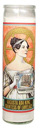 Ada Lovelace Secular Saint Candle - 8.5 Inch Glass Prayer Votive -  The Unemployed Philosophers Guild, 4563