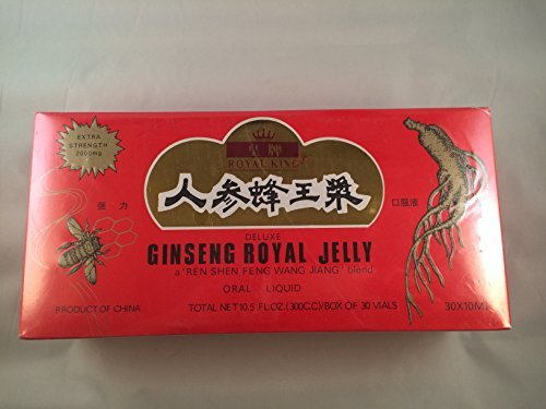 Royal King Deluxe Ginseng Royal Jelly Oral Liquid 60 Vials