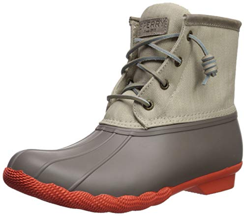 SPERRY Women's Saltwater Pop Outsole Rain Boot, Dark Taupe, 8.5 M US