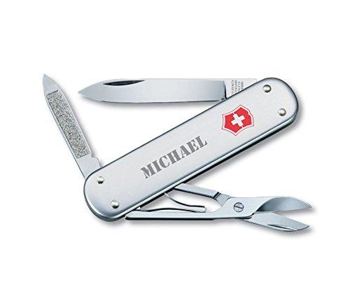 Personalized Swiss Army Money Clip Pocket Knife