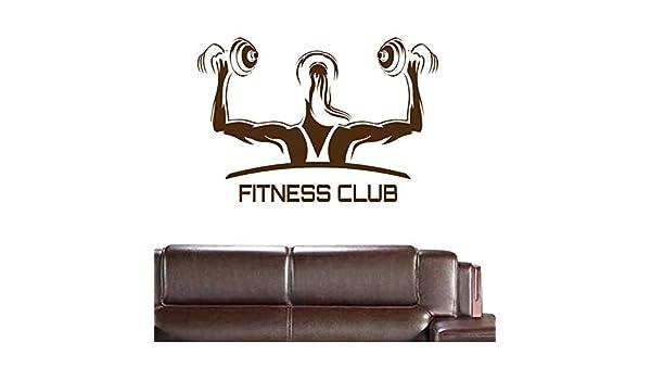 Dctal Car Fitness Club Gimnasio Nombre Mancuernas Etiqueta Chica Crossfit Calcomanía Body-building Posters Vinilo Tatuajes de pared Decoración Gym Sticker 58x84cm: Amazon.es: Bebé
