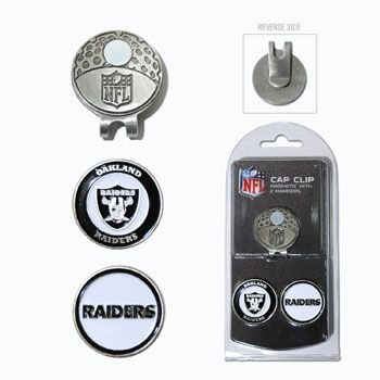 80afe26a Amazon.com : Oakland Raiders Golf Cap Clip & Ball Markers : Sports ...