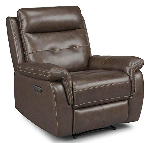 "Home Styles 5325-50 homestyles by Flexsteel Lux Leather Power Motion Recliner W-36"", D-37"", H-40"" Brown"