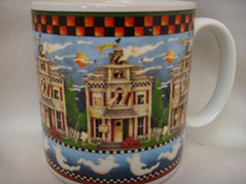 Debbie Mumm Sakura Halloween Haunted House Ghost Coffee Tea Cup Mug Collectible ()