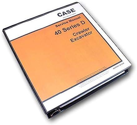 Amazon com: Case Drott 40D Crawler Excavator Service Technical