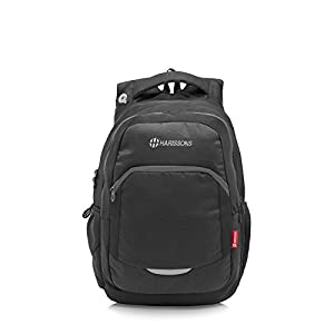 Harissons Xeno 33 Ltrs Black (15.6 inch) Laptop Backpack/Bag for Men and Women with 3 compartments and Waterproof rain Cover