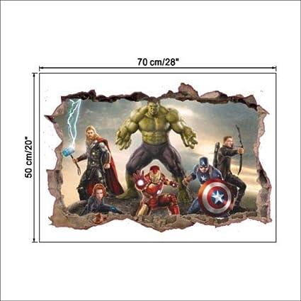 Kunst-Aufkleber Mond One Size Avengers Wandbilder Dekoration Eule Utopiashi The Avengers 3D-Wandsticker