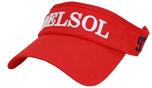 DELSOL 8039 レッド サンバイザー レッド フリーサイズ デルソル ゴルフウェア レディース