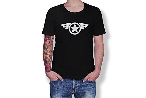 (Gildan Captain America - Star Logo - Marver Super Hero - Novelty Gift - Unisex Adult)