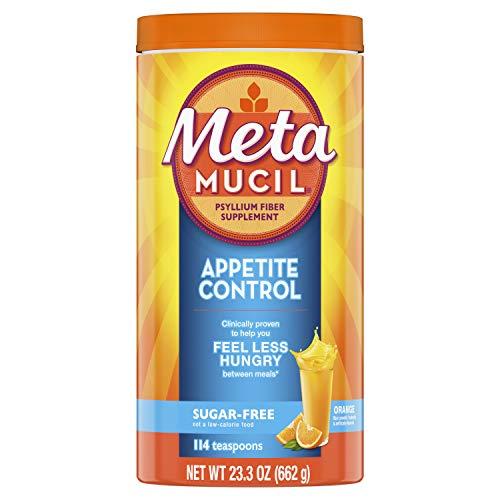 - Metamucil Appetite Control Fiber, 4-in-1 Psyllium Fiber Supplement, Sugar Free Powder, Orange Zest Flavored Drink, 57 Servings (Packaging May Vary)
