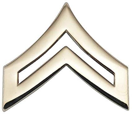 Chevron,Nckl,PR HEROS PRIDE 4440TN Metal Rank Insignia,CPL